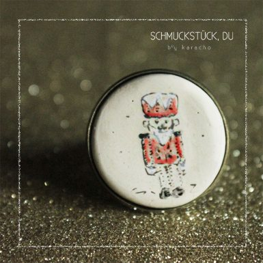 karacho keramik illustration nussknacker ring